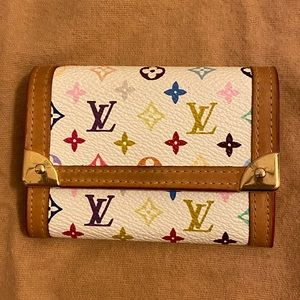 Authentic Louis Vuitton multicolor mini card case